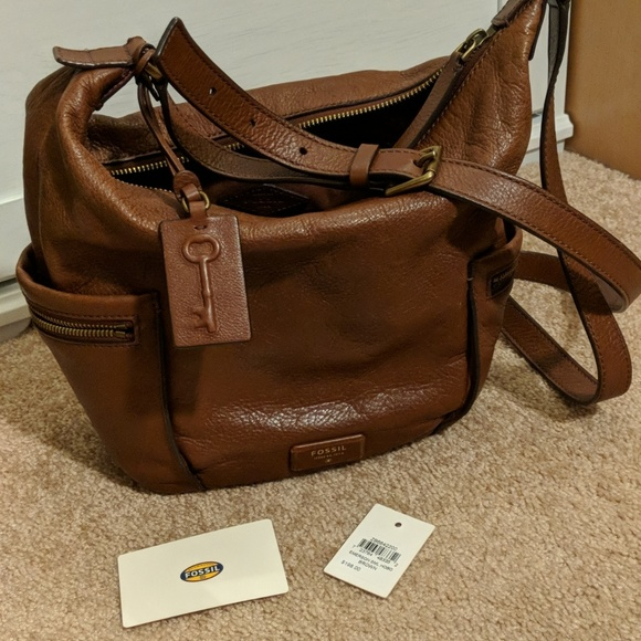61e1b6fd3c Fossil Handbags - Brown leather Fossil hobo crossbody